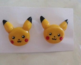 Pokemon Pikachu stud earrings