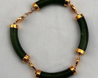 22 k and Jade bracelet