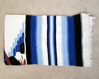 Vintage Mexican Blanket / Rug / Southwest / Southwestern / Soft / Multi-purpose / Throw / Home decor / Mat / Boho / Mexico / Snake / Eagle