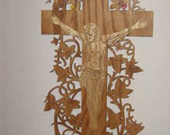 Handmade Jesus On Cross Plaque