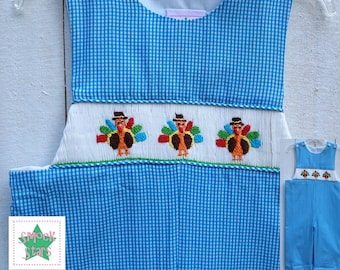Smocked Turkey Longall, Smocked Boys Outfits, Smocked Longall PRE-ORDER