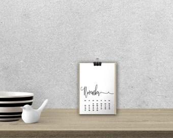 Desk Calendar 'MELIKA', black // A5