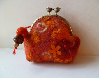 A handmade Felt Purse