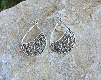 Silver teardrop earrings, teardrop earrings, silver earrings, teardrop, earrings, dangle earrings, unique earrings, silver, unique