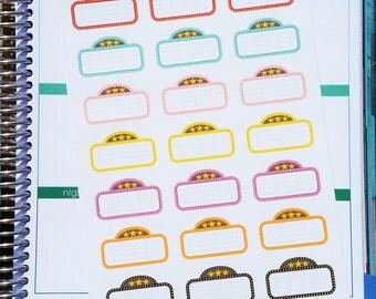 Movie marquee planner stickers (P241)