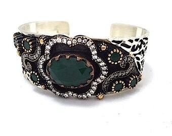 Green Onyx Turkish Cuff