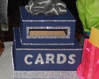 Blue & Silver Card box