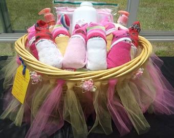 Ladybug baby girl diaper basket