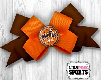 Choose Your Design - Browns Bow, Bow, Browns Hair Bow, Hair Bow, Browns Hair Clip, Hair Clip, Browns Medium Bow