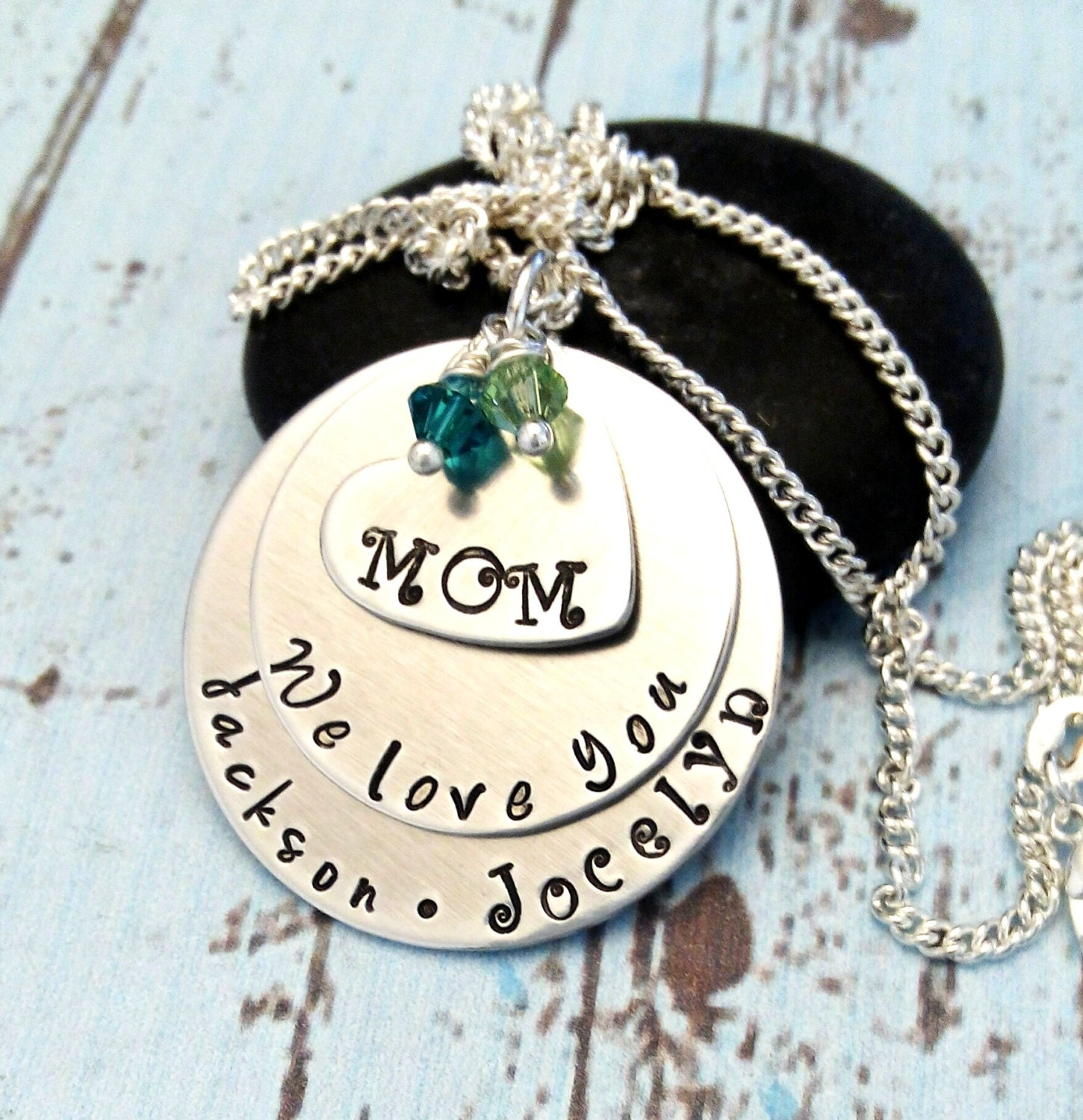 mom necklace personalized mother 39 s day gift gift for. Black Bedroom Furniture Sets. Home Design Ideas