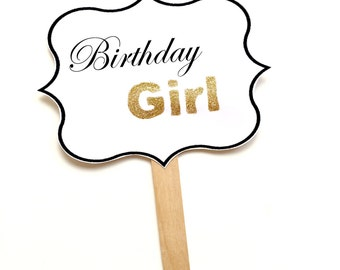 1 Birthday Girl Glitter Frame Sign, Hen, Bachelorette, wedding, Birthday Photo Booth Prop
