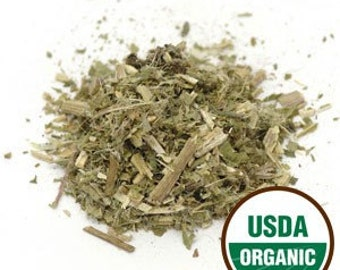 ORGANIC and Kosher BLESSED THISTLE Herb. Sold by weight. Cinicus Benedictus. Irradiation-free.