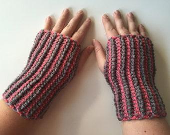 Crochet Fingerless Gloves, Fingerless Mittens, Handmade Gloves, Fingerless Mitts, Crochet Arm Warmers, Winter Accessory, Gifts for Her