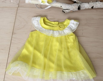 Baby Prop,Sitter Prop,Photography Props,Summer Dress,Baby Photography,Yellow Dress,Birthday Dress,Baby Girl,Ready to Ship, Zoraya Baby Props