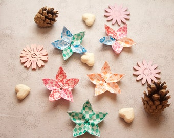 Japanese origami flowers