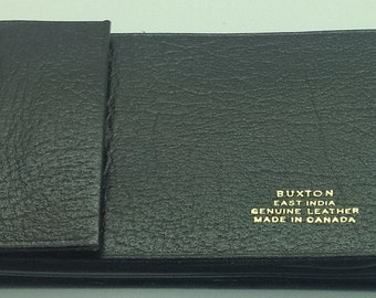 Vintage Buxton Credit Card Document Holder Business Credit Card  Brown  India Genuine Leather Made In Canada