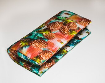 New Pineapple Print Clutch Bag