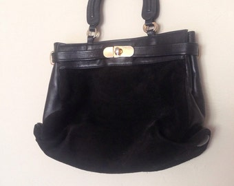 1970's Suede & Leather Purse