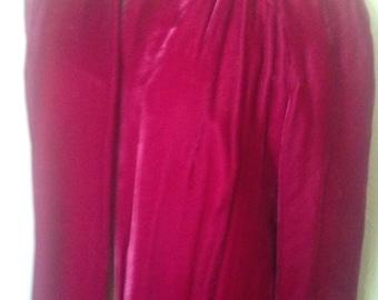 Pink Velvet 1950's Coat