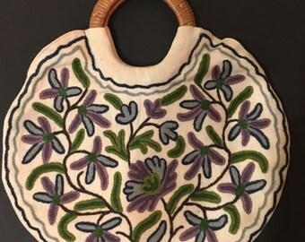 1970's Embroidered Boho Handbag