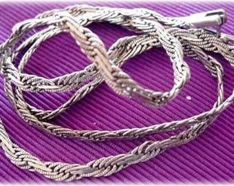 Vintage Silver 925 Twisted Link Necklace