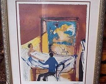 Salvador Dali, Lithograph, The Doctor, Artwork Reproduction, Facsimile Signature