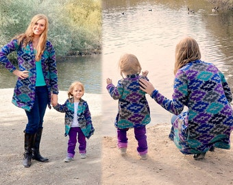 MOMMY & ME mommy and me cardigan fleece lined grandpa knit sweater knit cardigan with pockets mommy and me sweater knit warm cozy Christmas