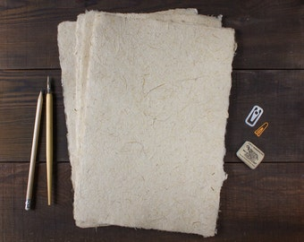Handmade paper / Deckle edge paper / Textured paper / Rustic wedding paper / Calligraphy / Single sheet (code#26)