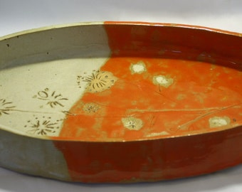 source oval decorative or of using multiple, made by hand in ceramic grez.