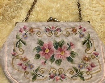 Grandmas vintage needlepoint purse i