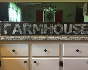 FARMHOUSE sign fixer upper sign hand painted sign wood sign farmhouse decor kitchen decor Country decor fixer upper decor old house