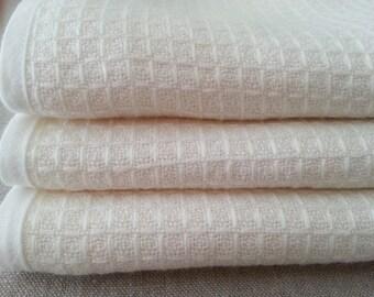 Waffle weave baby blanket with linen edge, baby blanket, Handmade from 100% Linen