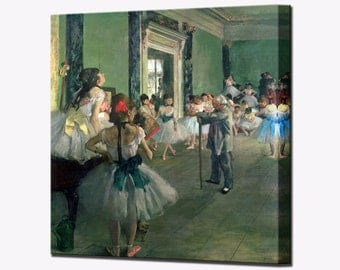 Dance Class Degas Wall Art Canvas Print Picture Ready To Hang Decor