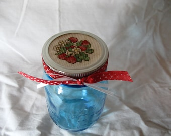Cross Stitch Mason Jar
