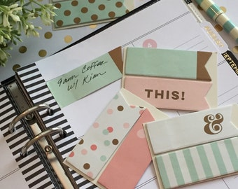 Mint Collection Sticky Notes Page Flags