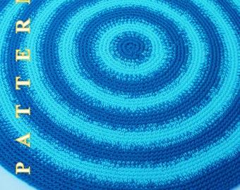 Rug Crochet Pattern Crochet Area Rug Pattern PDF Floor Round Rug Pattern Rug Crochet Round Area Rug Crochet Pattern Olga Andrew Designs 041
