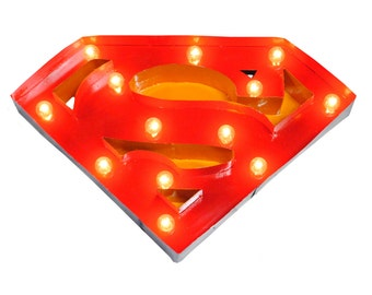 Superman Marquee Metal Sign