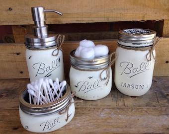 "Shop ""mason jar"" in Bathroom"