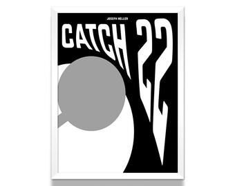 Catch 22 Poster, Literature Poster, Joseph Heller Book, Living Room Poster