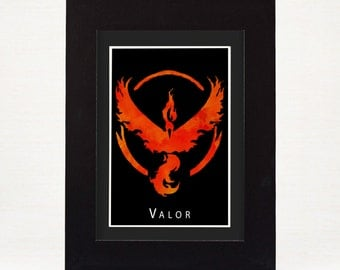 Pokemon Go Team Valor Print