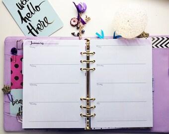 A5 Calendar 1W | 2 column / inside, Digital Download