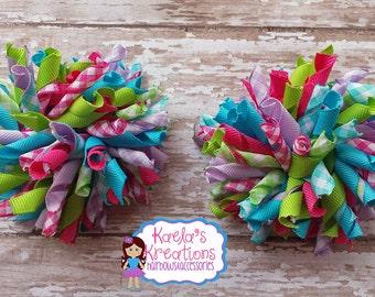 Plaid Print Korker Hair Bow,Korker Hair Bows, Corker Hair Bow,Easter Plaid Korker Hair Bow,Easter Hair Bow,Plaid Hair Bow,Colorful Plaid Bow