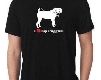 I Love My Puggles T-Shirt T960