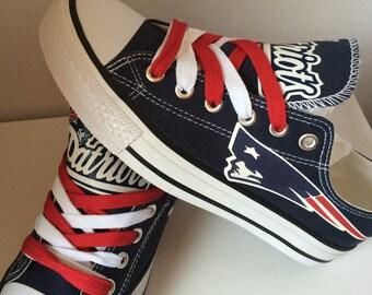 New England Patriot's tennis shoe's