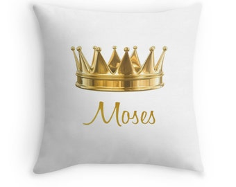 Gold Crown Throw Pillow : Gold pillow Etsy