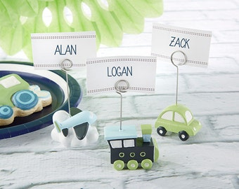 Baby Shower or Birthday Party Assorted Precious Cargo Transportation Place Card Holders ( Set of 6)
