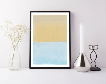 Modern Abstract Art PRINTABLE - Modern Abstract Art - Blue and Green Abstract Print - Home Decor - Abstract Wall Art - Minimal Abstract Art