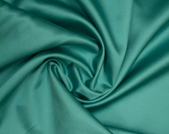 FREE SHIPPING SALE Blue Silk-Cotton Fabric | Bridesmaid Fabric | Silk Satin Fabric by the Yard