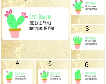 Cute cactus return address labels address labels address stickers custom address labels,shipping labels,mailing labels