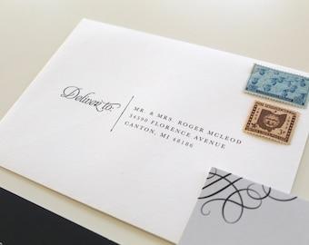 Simple Serif Wedding Envelope Printing Serif Envelope